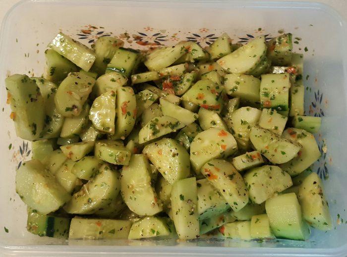 Zesty Cucumber Basil Salad