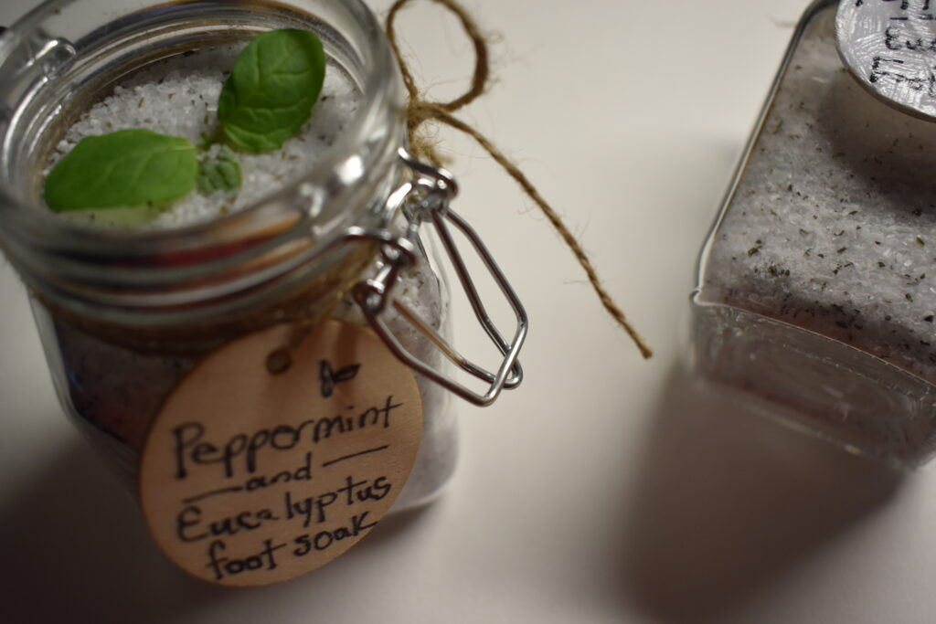 Treat Mom to Peppermint Essential Oil Foot Soak