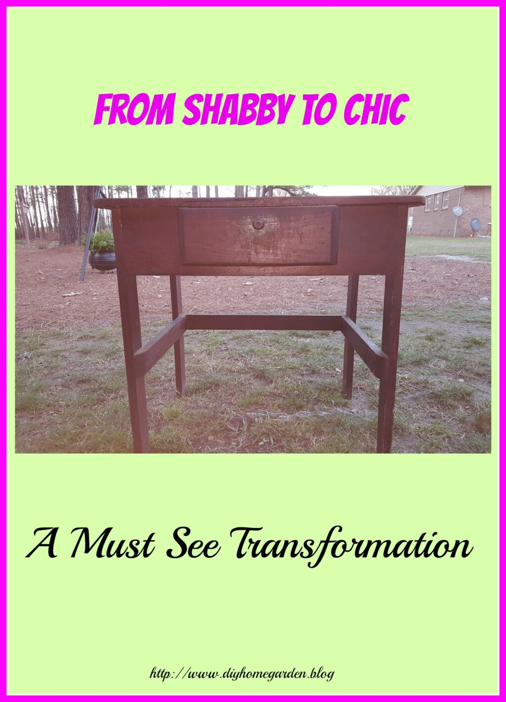 Antique Child's School Desk Upcycled Into A Charming End Table