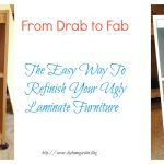 refinishing laminate furniture