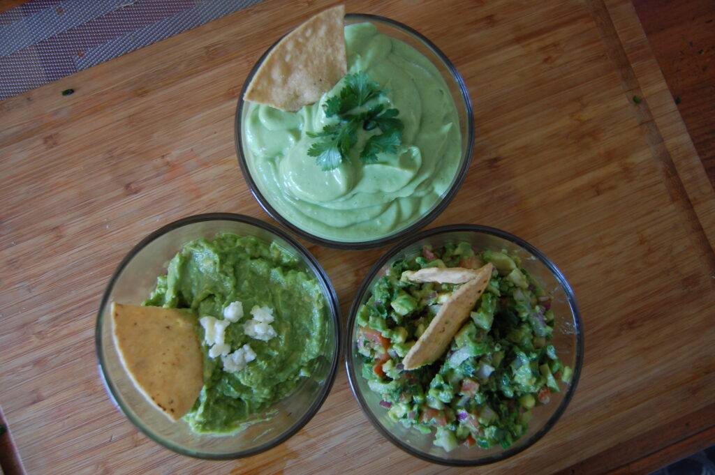 3-way Guacamole – Dip into these three unique recipes of a Mexican classic