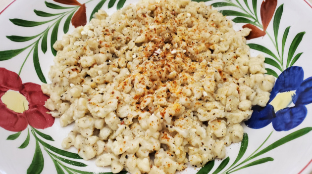 Quick And Easy Recipe: Spaetzle Made With Garden Fresh Herbs