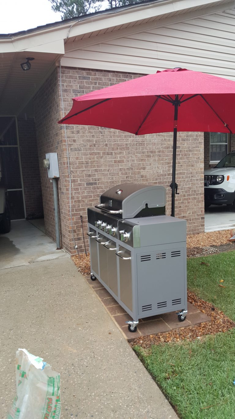 A Grill Zone Made Out Of Unused Lawn Space Diyhomegarden Blog