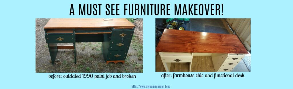 An Old Desk Transformed To Farmhouse Decor