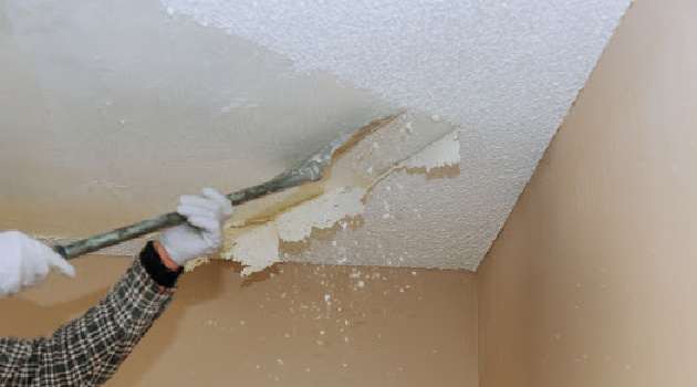 DIY: How to Remove a Popcorn Ceiling