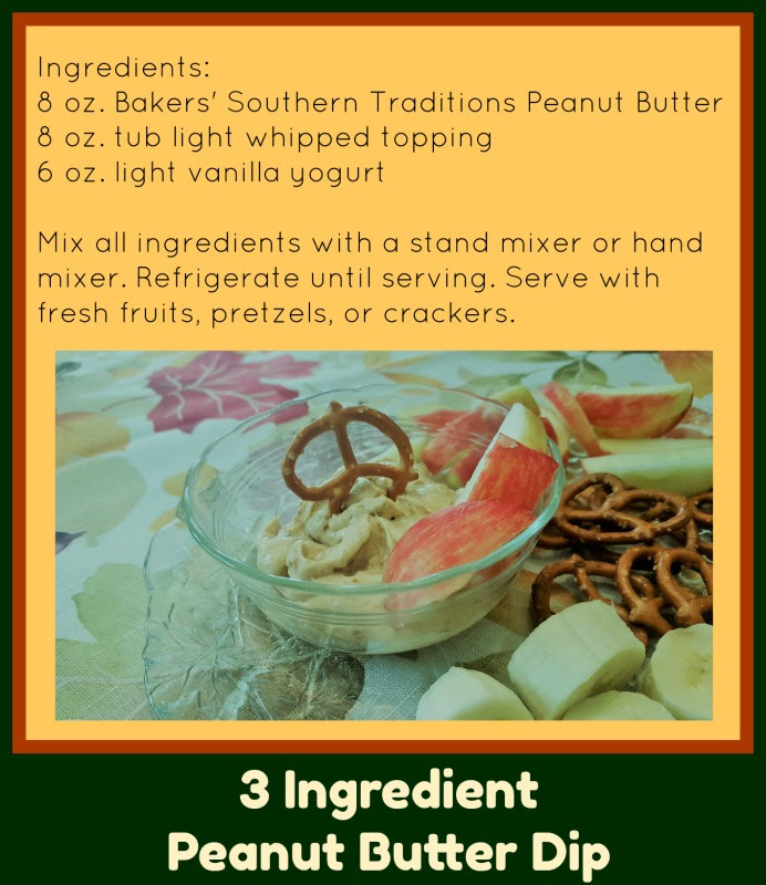 Peanut Butter Fruit and Pretzel Dip: No Cook, 3 Ingredients