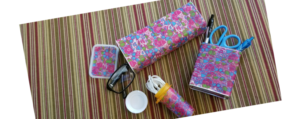 3 Cool Desk Accessories Made From Upcycled Items and Washi Tape