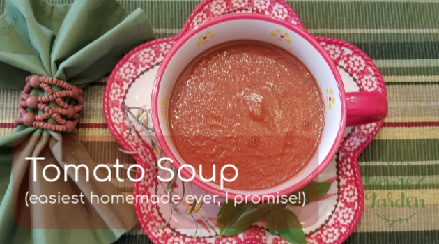 Tomato Soup (Homemade in Pampered Chef Cooking Blender + Stove Top Version)