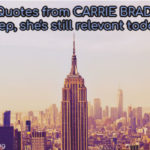 love quotes from carrie bradshaw