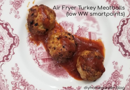 Air Fryer Turkey Meatballs (low WW smartpoints)