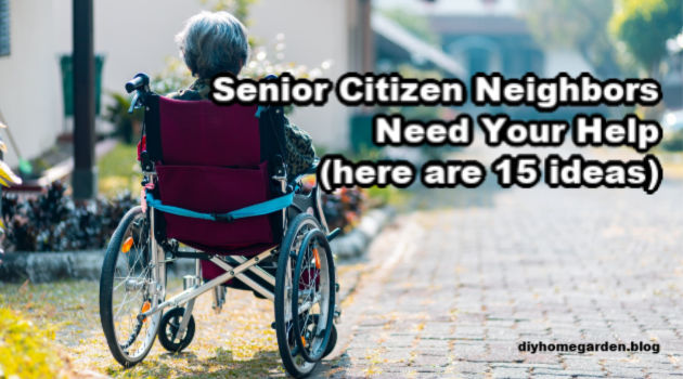 Senior Citizen Neighbors Need Your Help (here are 15 ideas)
