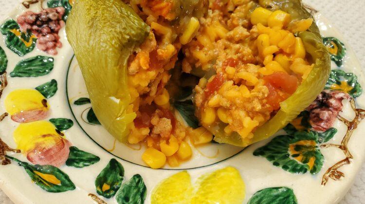 turkey taco stuffed pepper