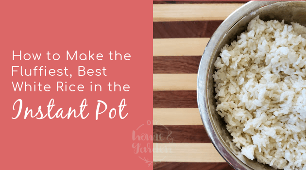white rice in the instant pot