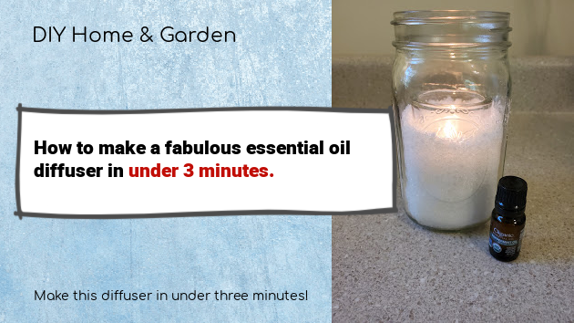 For Under $3 You Can Make a Gorgeous Essential Oil Diffuser
